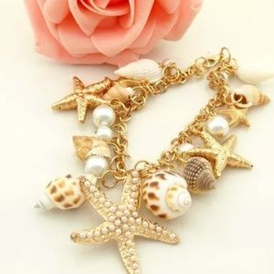 Starfish seashell bracelet